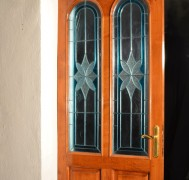 Wooden framed door with insulated glass