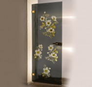 Multi-colour printed glass interior door