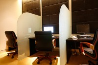 Interior glass partitions